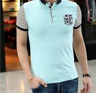 2015 New Men's Cotton Short Sleeve T-Shirt  Casual Sports Pullover Top 4 Colors