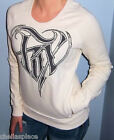 New FOX RACING RIDERS Ivory HEART Pullover FRONT POCKETS Sweatshirt  Medium M