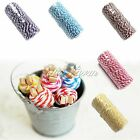 Cotton Twine Stripe DIY Craft String Wedding Party Decor Roll Favour Gift Decor