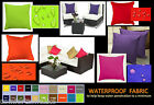 WATERPROOF FABRIC SCATTER CUSHION COVERS 4 SIZES FOR GARDEN & DOMESTIC FURNITURE