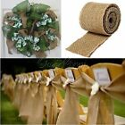 2x Natural Hessian Lace Vintage Rustic Burlap Ribbon Wedding Crafts Decor 6cmx2M