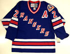 BRIAN LEETCH NEW YORK RANGERS CCM VINTAGE 1994 STANLEY CUP BLUE JERSEY WITH A