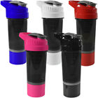 Cyclone Cup 20oz Blender Mixer Bottle Protein Shaker with Compartment