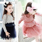 114 Polkadot Princess Wedding Garden Party Flower Girls Dresses SIZE AGE 2 to 8Y