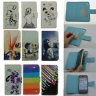 For ZTE case Wallet Card slot LUXURY leather cartoon cute Cover + free gifts
