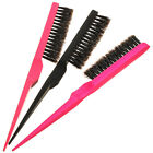 Professional Teasing Back Combing Hair Brush Slim Line Styling Comb Random Color