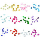 50PCs Floating Glass Charms Fit Living Memory Locket Pentagram Birthstone 5mm
