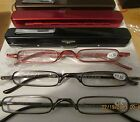 1 Thin Slim Ultra Light READING GLASSES with case Select Black Copper Red