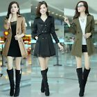 New Arrival Lady Lapel Long Jacket Double Breasted Lace Trench Coat Outwear - LD