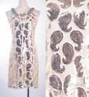 1920's Vintage Great Gatsby Sequin Gold Dress Art Deco Party Clubwear  AF 3284