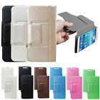 Universal PU Leather Flip Stand Silk Case Cover Suction Cups For Cell Phone