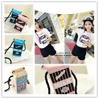 Fashion Women Girls Canvas Milk Cartons Shoulder Bag Crossbody Messenger Bag LA