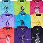 BOYS RECITAL, PARTY, GRADUATION, LONG SLEEVE DRESS SHIRT  WITH TIE, SZ:4 to 14