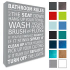 Bathroom Wall Picture Bathroom Rules Plaque Canvas Prints Various Colours/Sizes
