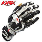 Knox handroid pod short cuff motorcycle motorbike gloves white black