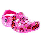 Kids Girls Crocs Hello Kitty Good Times Clogs Beach Mules Casual Shoes UK 2-3