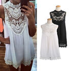Sexy Hot Womens Summer Beach Boho Hippie Lace Chiffon Dress Party Top