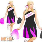 Cheerleader Ladies Fancy Dress High School Sports Uniform Womens Costume Outfit