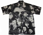 New  DOORS Black and White Club Shirt, Dragonfly, L