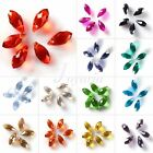Wholesale 10pc DIY Crystal Teardrop Top Drilled Jewelry Making Beads 6x12/8x13mm