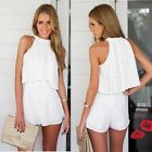 Women Summer Halter Chiffon Sleeveless Sexy Two Piece Casual Dress Vogue