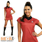 Classic Uhura Ladies Fancy Dress Star Trek Red Sci Fi Uniform Womens Costume New