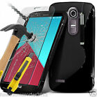 LG G4 H815✔S-Line Slim Wave Gel Case✔Tempered Glass LCD Screen Guard