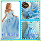 Fancy Cinderella Princess Fairytale Costume Girls Party Dresses SIZE 4-5-6-7-8-9