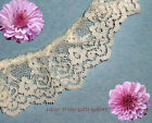 """3 Yds Lace Trim Ivory Ruffled 1-3/8"""" Scalloped RY08V Added Items Ship No Charge"""