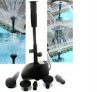 Submersible Pond WaterFall Pump W/Filter, 4 Heads for Different Water Effects