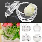 Cosmetic Crystal Cup Dappen Dish Nail Art Acrylic For Liquid Powder Container