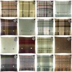 BRONTE BY MOON 100% WOOL FEATHER  FILLED CUSHION TARTAN CHECK SPOT MADE IN UK