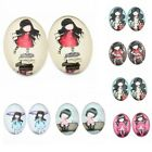 20/100x Girls Patterns Oval Glass Embellishment Fit Scrapbooking DIY Findings BS