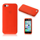 Silicone Rubber Gel Case Cover For Apple iPhone 5C Free Screen Protector