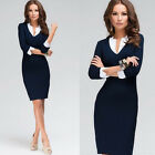Women's Sexy Casual Day Shift Sheath Career Bodycon Formal Party Cocktail Dress