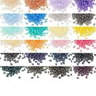 170 Czech Glass Super Duo 5mm Sapcer Seed Beads W/ 2 Holes & Terra Pearl Finish