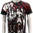 Sz S M L XL XXL 2XL KISS Music T-shirt  Gary Live Tour Concert Black Many Size