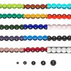 Lot of 20 Transparent Smooth Round Glass Loose Beads in Sizes Small - Big