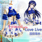 Lovelive! Love Live! Sonoda Umi Blue&White Cosplay Costume Dress