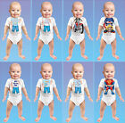 Just Add a Kid Baby Boys Kids 12 Months Bodysuit Various Designs 100% Cotton