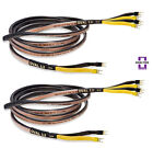 Analysis Plus Bi-Wire Black Oval 12 Bi-Wired Speaker Cable Stereo Pair 6 ft