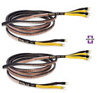 Analysis Plus Bi-Wire Black Oval 12 Bi-Wired Speaker Cable Stereo Pair 8 ft