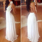 New Women Formal Backless Lace Prom Evening Party Bridesmaid Low-Cut Maxi Dress