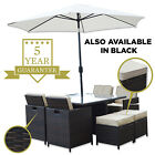 Woodside Wyoming Rattan 8 Seat Garden Patio Furniture Dining Cube Set