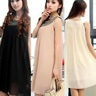 2015 Maternity Pregnant Women Casual Dress Loose Sleeveless Chiffon Long Dress
