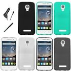 For Alcatel OneTouch Pop Astro TPU Crystal Skin Cover Case CAR CHARGER STYLUS