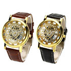 PU Leather Hollow Dial Analog Rome Digital Quartz Wrist Watch Gift Tide