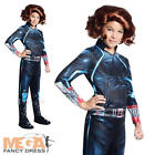 Black Widow Girls Fancy Dress The Avengers Marvel Superhero Kids Childs Costume
