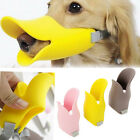 Pet Puppy Dog Muzzle Mouth Grooming No Bark Bite Silicone Cute Duckbilled S M L