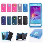 For Samsung Galaxy Note 4 Type Heavy Duty Hard Shockproof Cover Case with clip